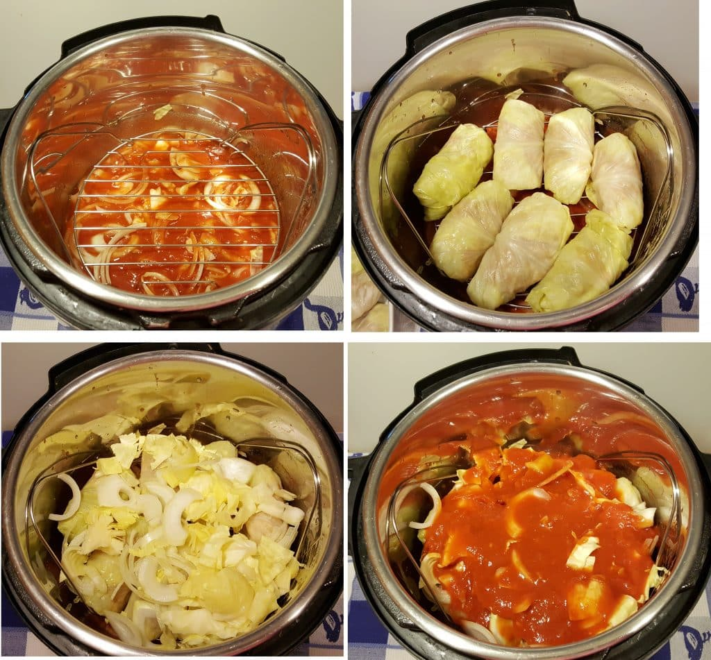 Layer the Stuffed Cabbage Rolls