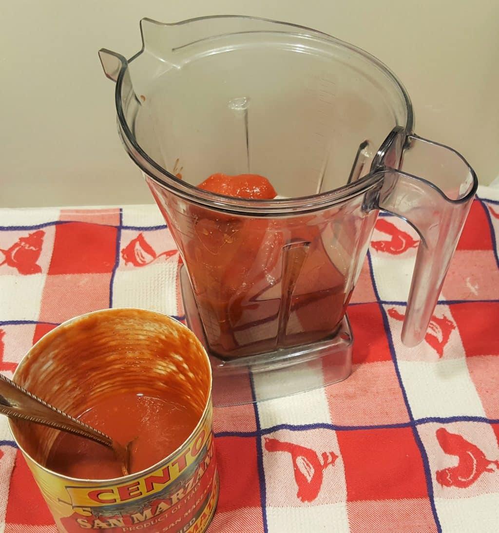 Add Sauce Ingredients to Vitamix