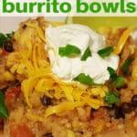 Instant Pot Chicken Taco Burrito Bowls