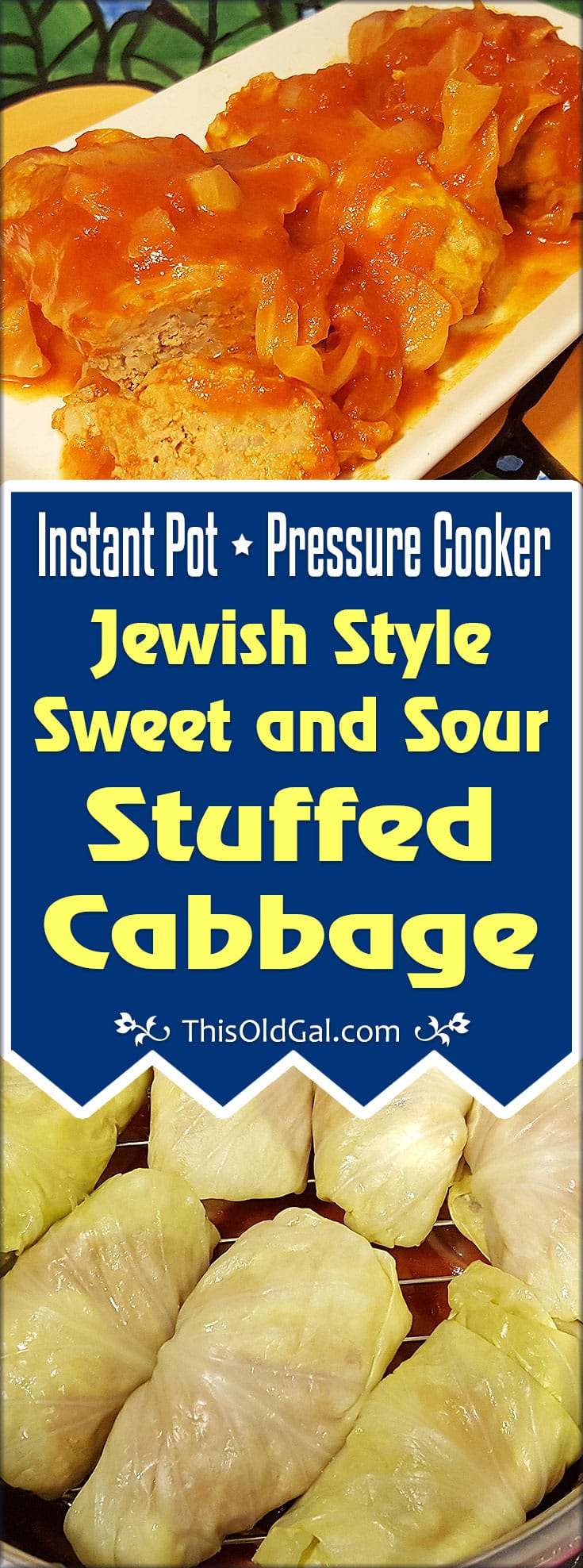 Pressure Cooker Jewish Style Sweet and Sour Stuffed Cabbage