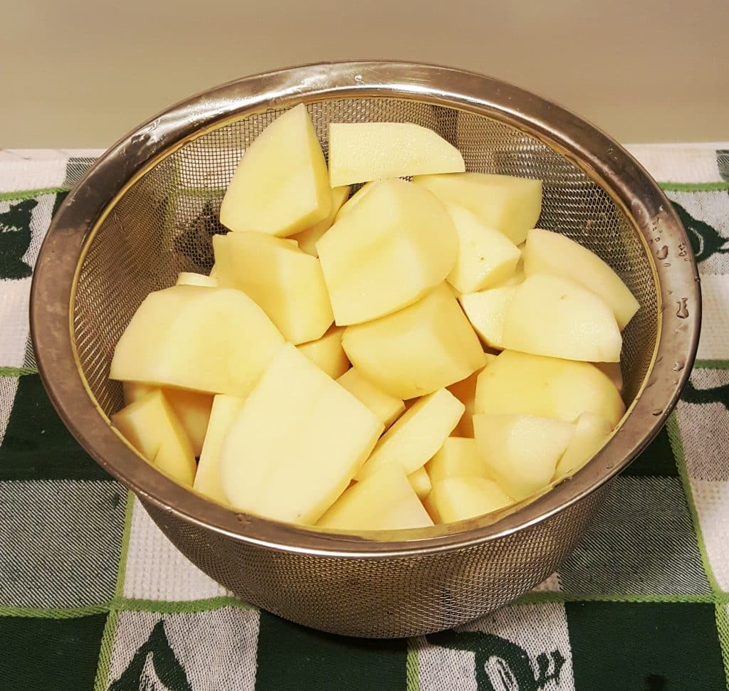 Peel and Quarter the Potatoes Smashed Potatoes