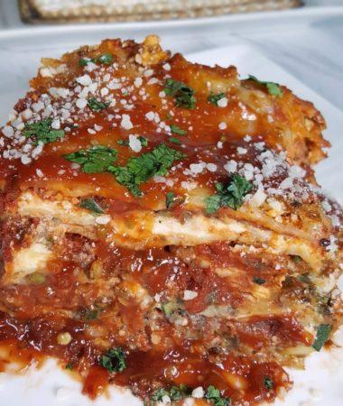 Instant Pot Passover Matzo Vegetarian Lasagna