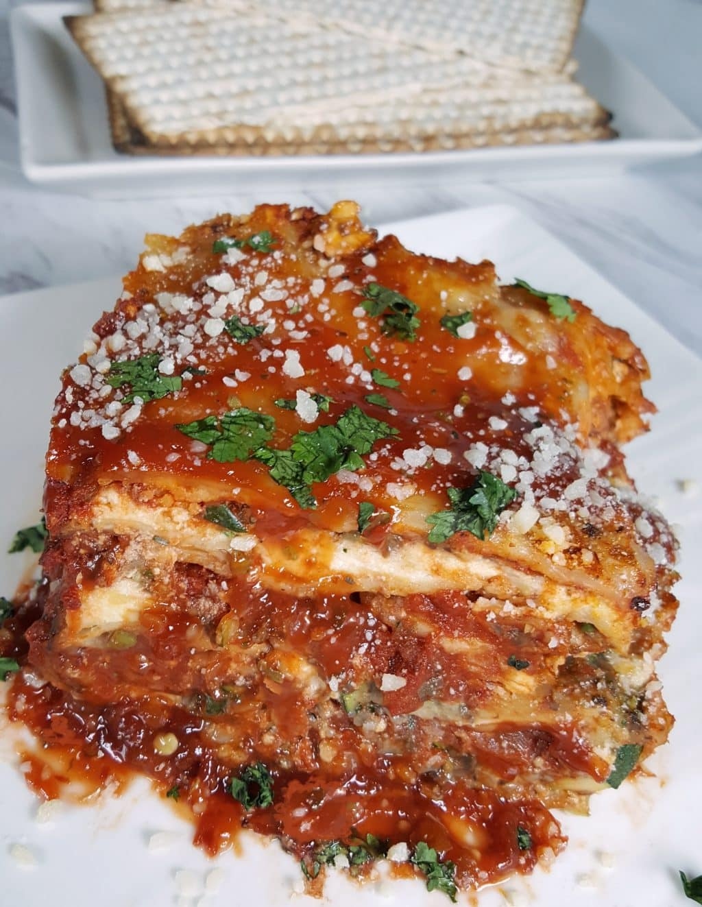 Pressure Cooker Passover Vegetable Matzo Lasagna