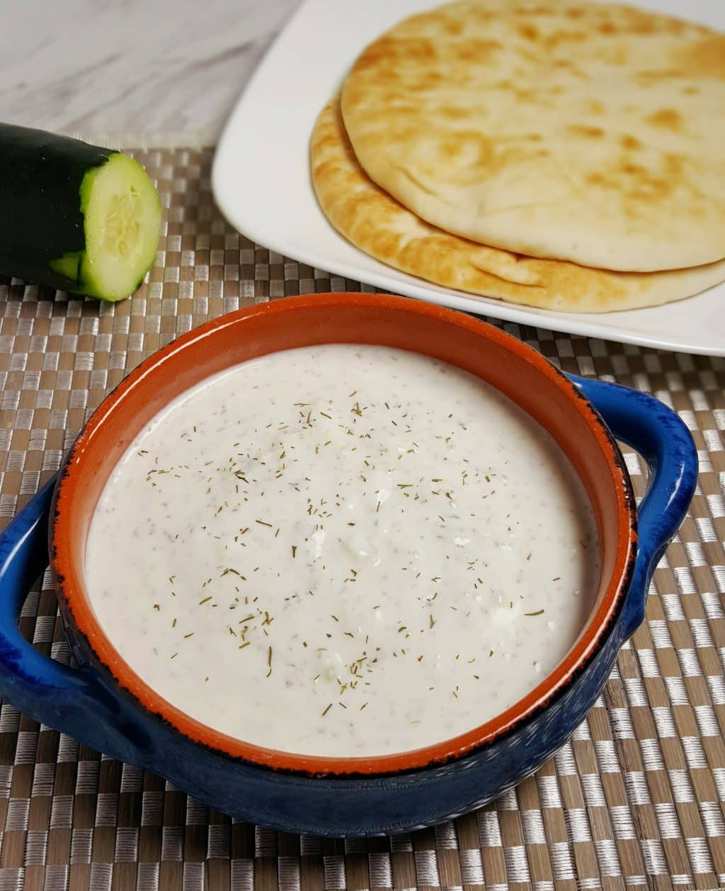 Greek Tzatziki Sauce Recipe {Garlic Cucumber Yogurt Dip}