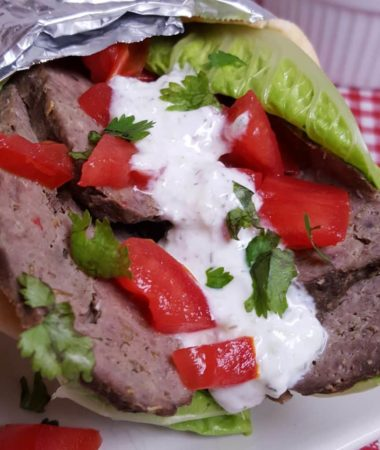 Pressure Cooker Greek Beef Gyros with Tzatziki