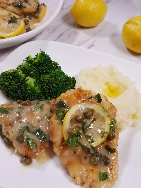 Chicken Piccata Recipe with Light Lemon Garlic Sauce ...  |Chicken Piccata