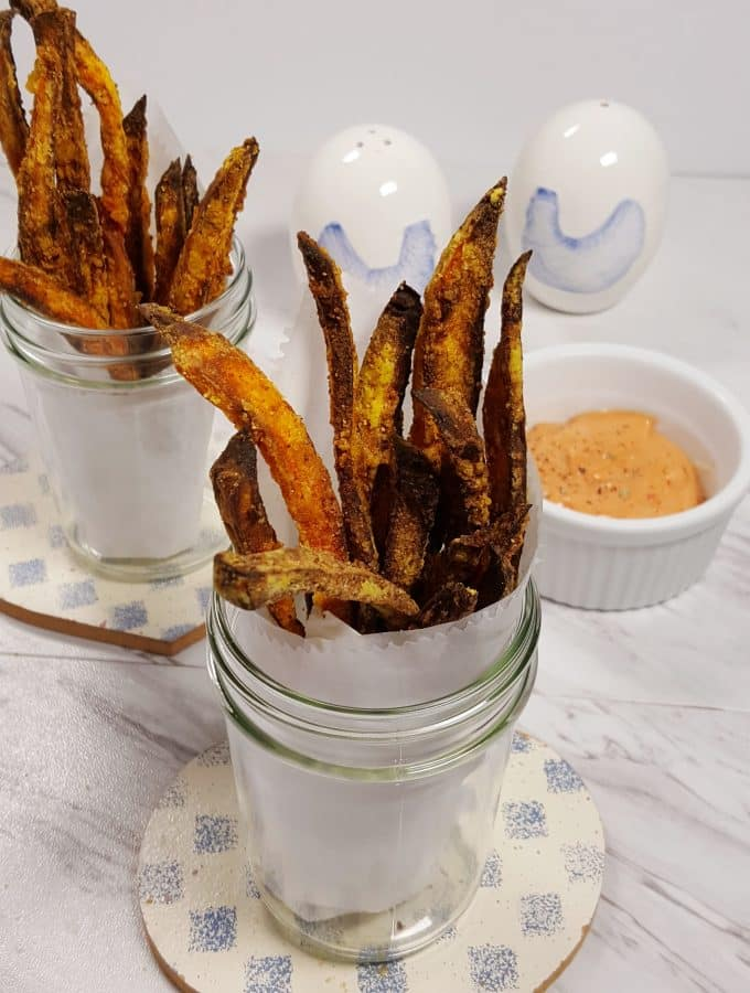Air Fryer Crispy Seasoned Sweet Potato Fries