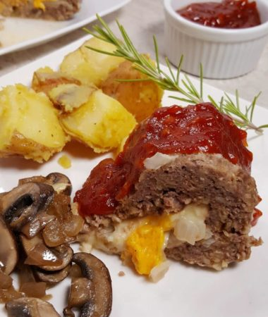 Instant Pot Cheeseburger Meatloaf and Rosemary Potatoes
