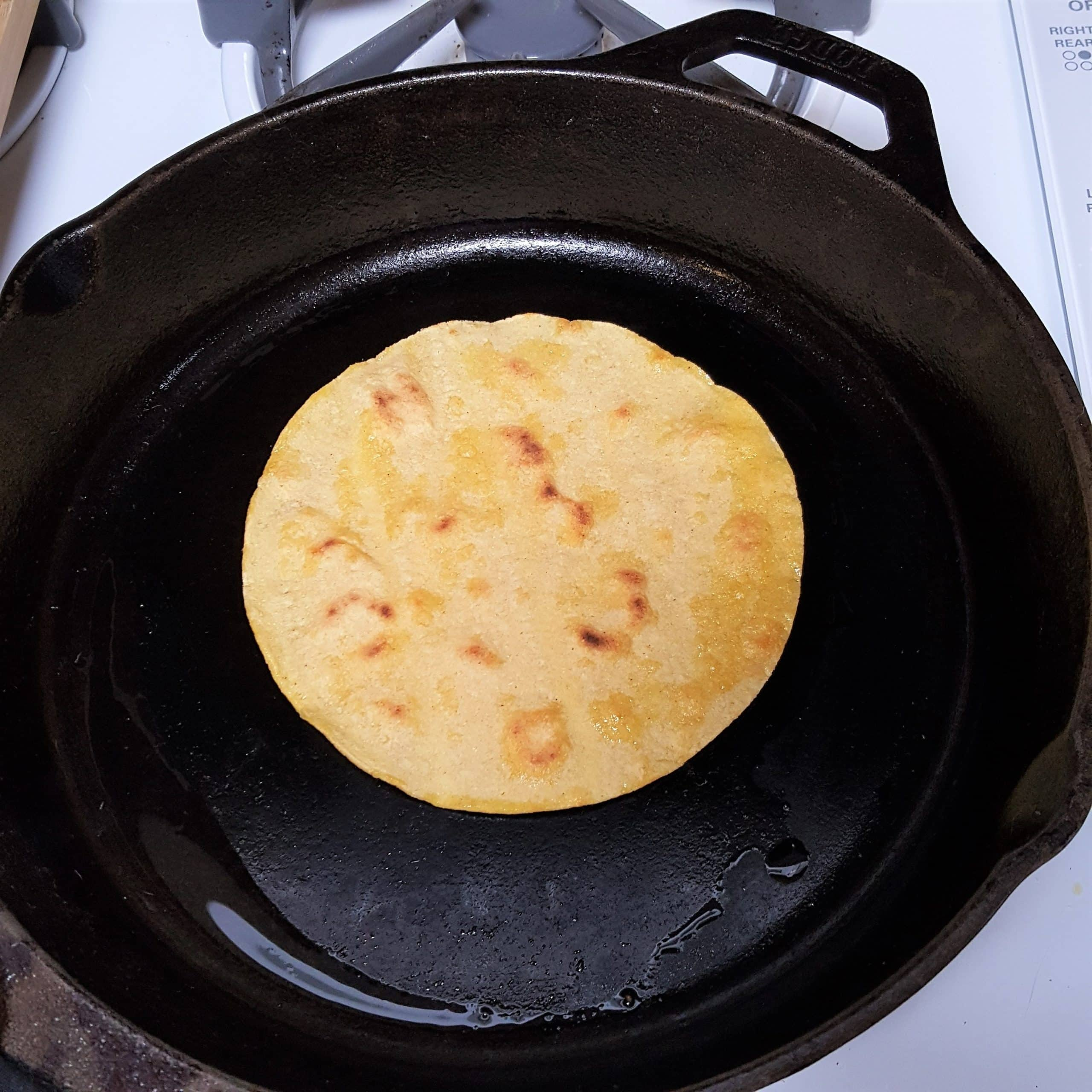 Fry Tortillas in Cast Iron
