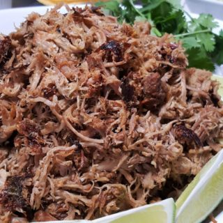 A plate of Pork Carnitas