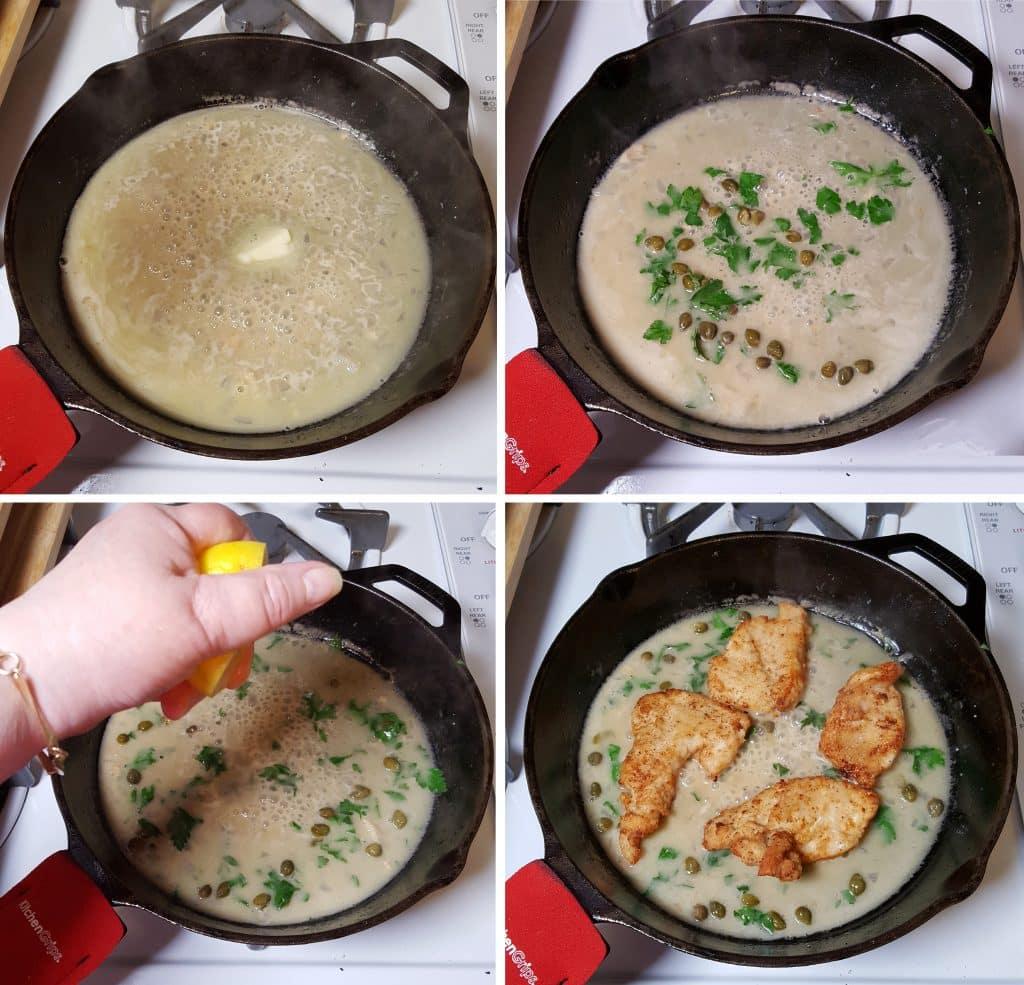 Make the Lemon Cream Sauce