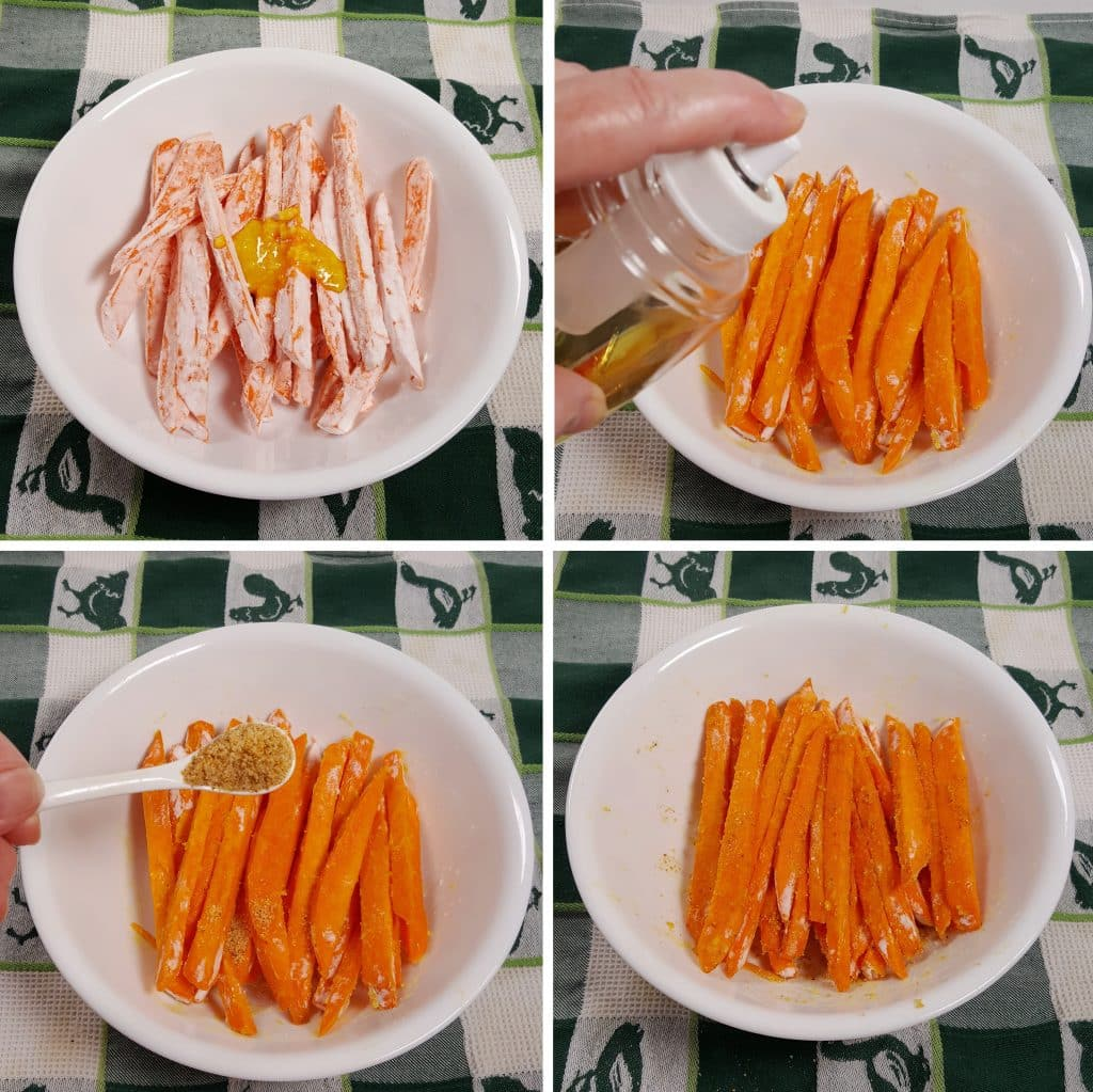 Coat Sweet Potato Sticks With Ghee