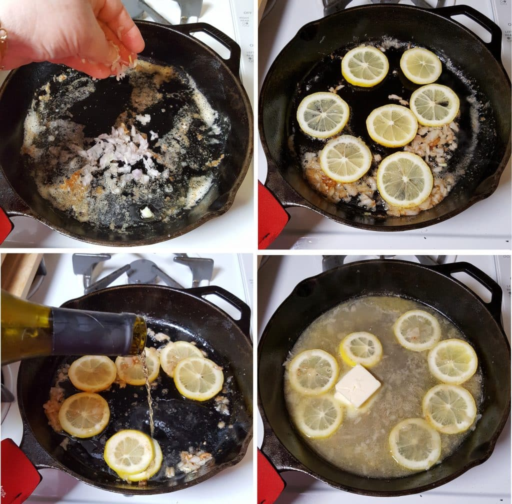 Sauté Shallot and Simmer Lemons