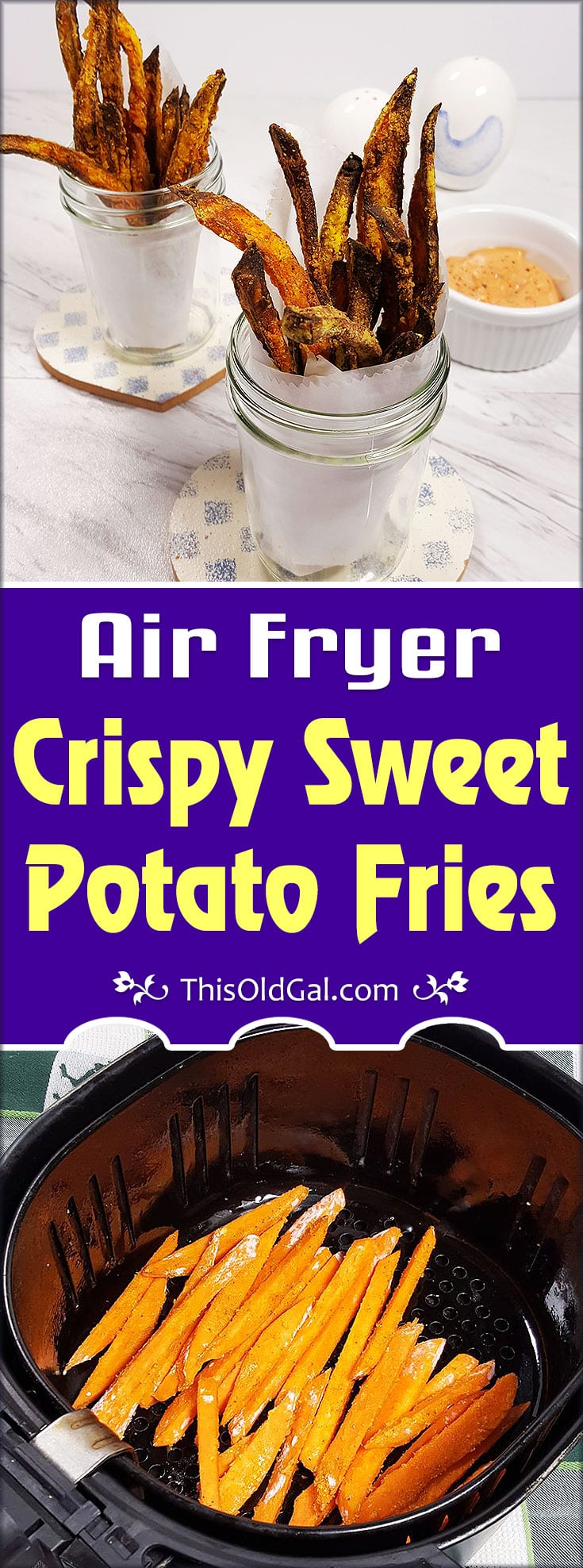 Easy Air Fryer Crispy Sweet Potato Fries