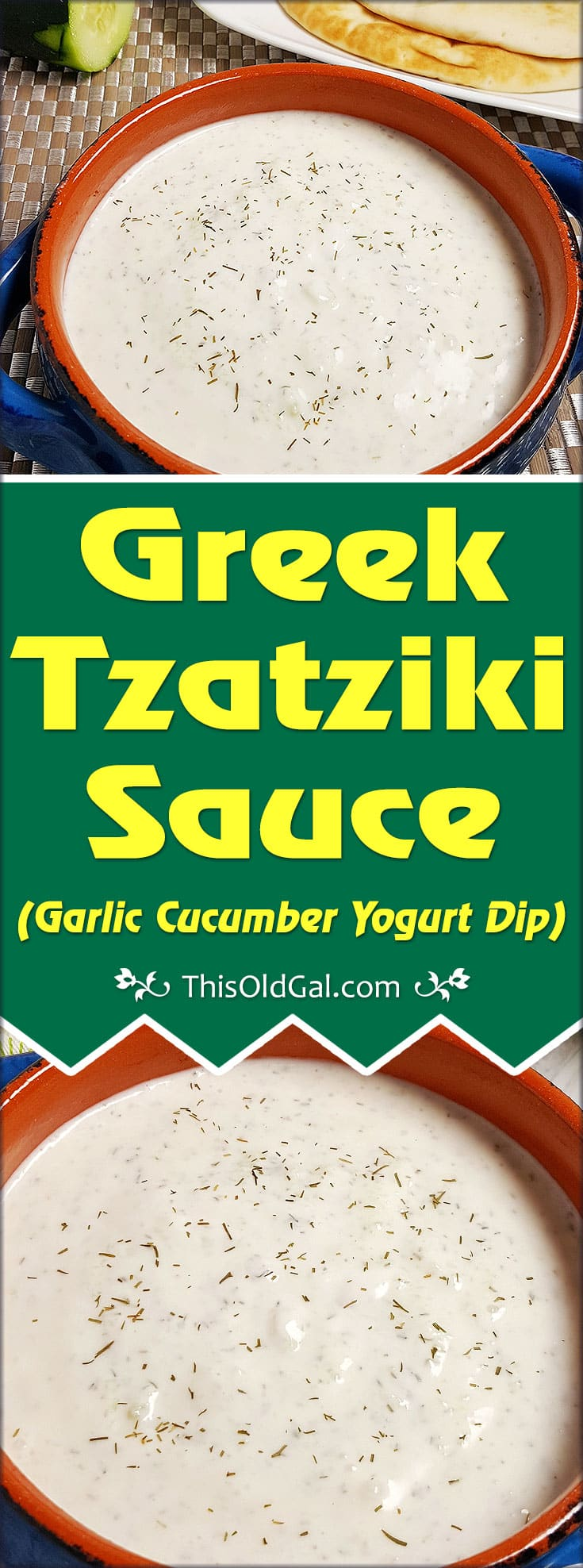 Greek Tzatziki Sauce Recipe (Garlic Cucumber Yogurt Dip)