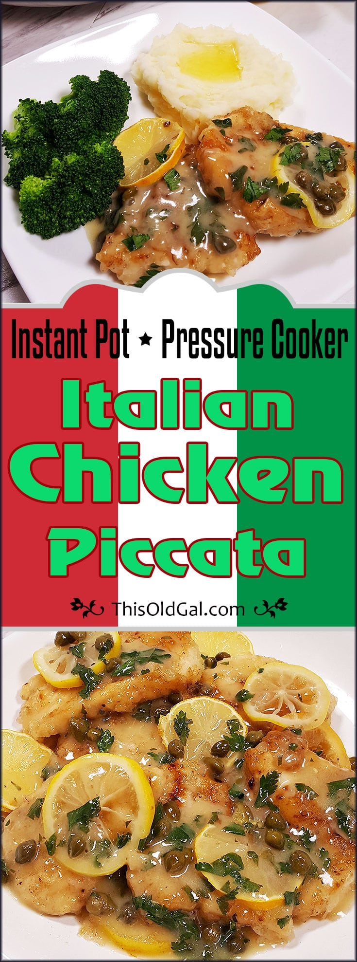Pressure Cooker Instant Pot Chicken Piccata