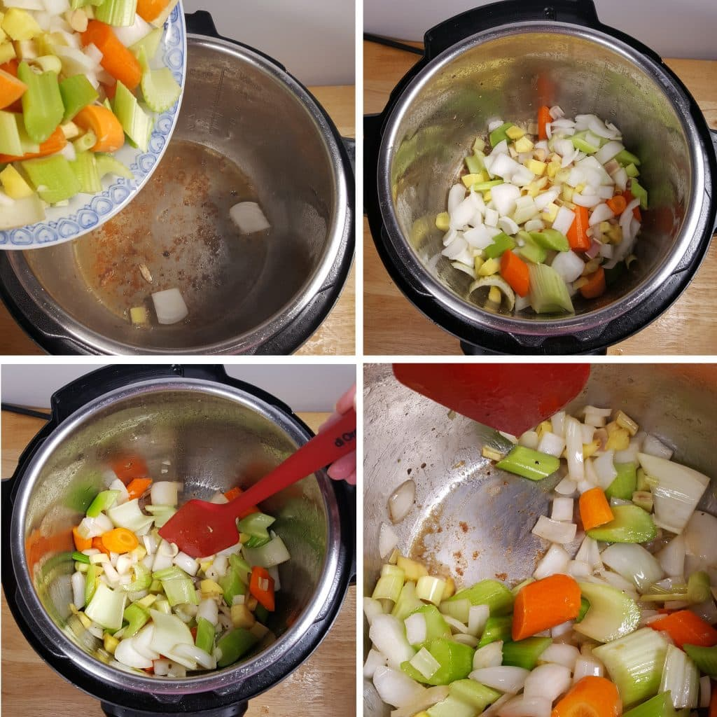 Cook the Lemongrass, Celery, Carrots