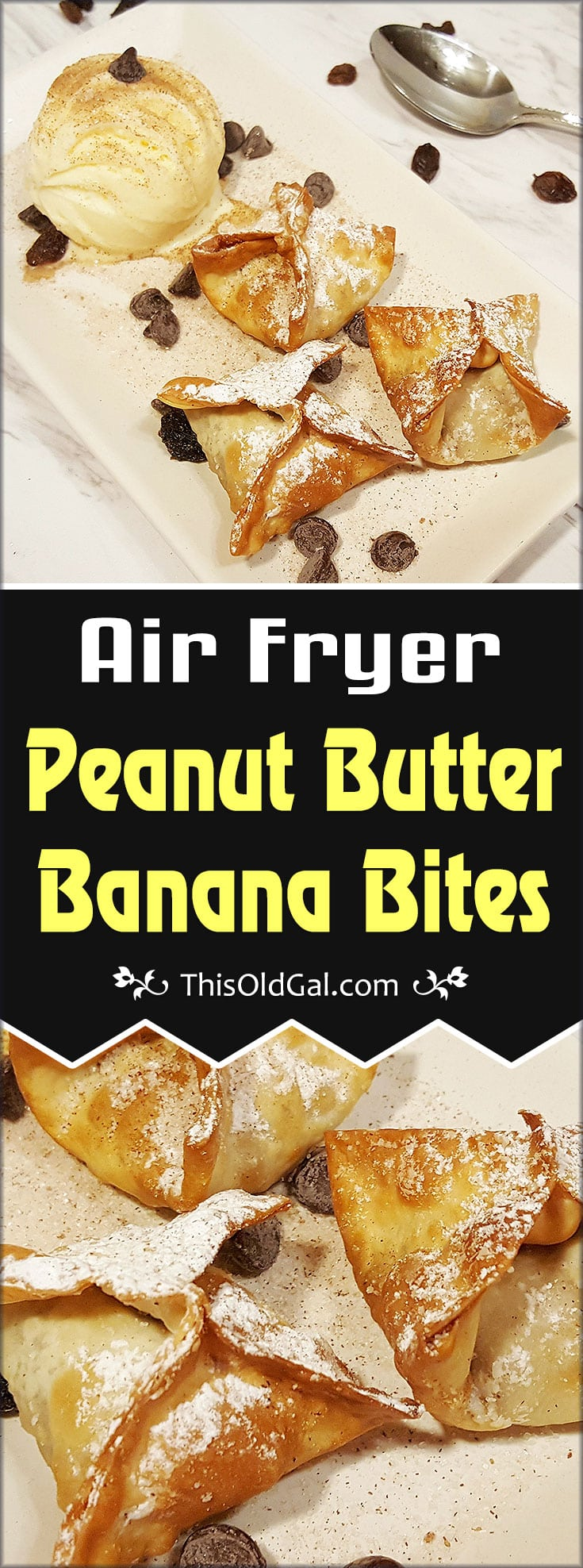 Air Fryer Peanut Butter Bites with Ice Cream