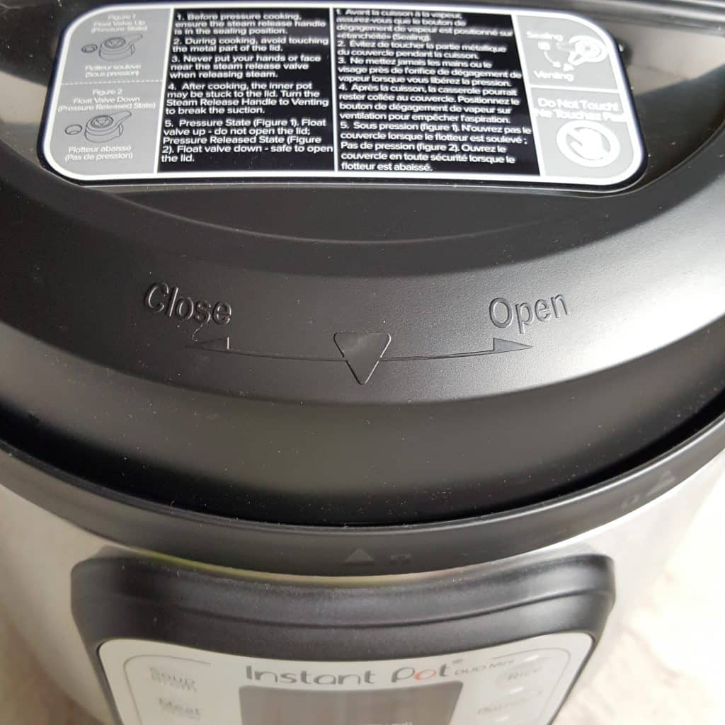 Markings for Locking the Lid