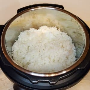 "Three ""Rice"" Cups of Rice, Fluffed"