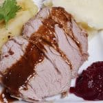 Instant Pot Pressure Cooker Balsamic Apple Pork Tenderloin