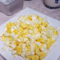Pressure Cooker Hard Boiled Egg Loaf, Perfectly Chopped