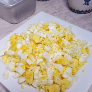 Pressure Cooker Hard Boiled Egg Loaf, Perfectly Chopped
