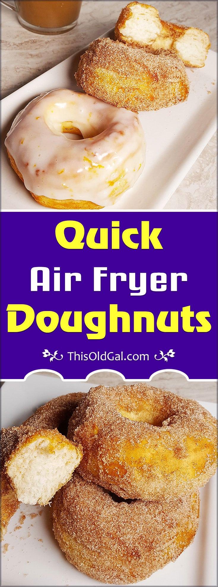 Air Fryer Glazed Doughnuts
