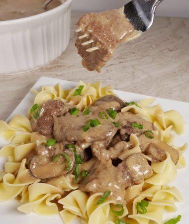 Instant Pot Pressure Cooker Beef Stroganoff