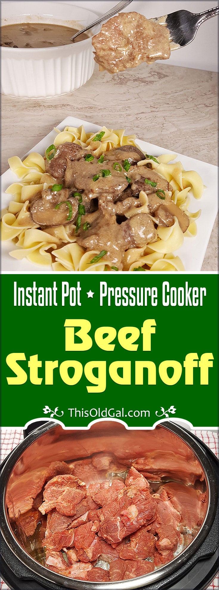 Creamy Instant Pot Beef Stroganoff