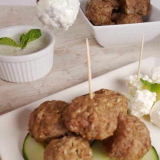 Instant Pot Greek Meatballs {Keftedes}