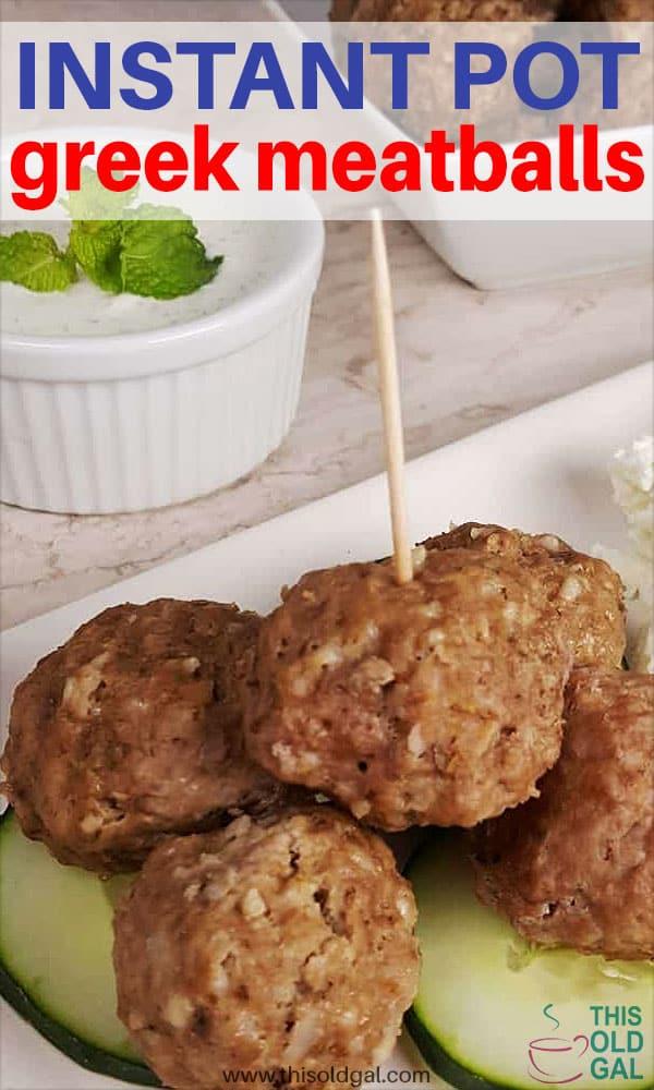 Pressure Cooker Greek Meatballs {Keftedes}