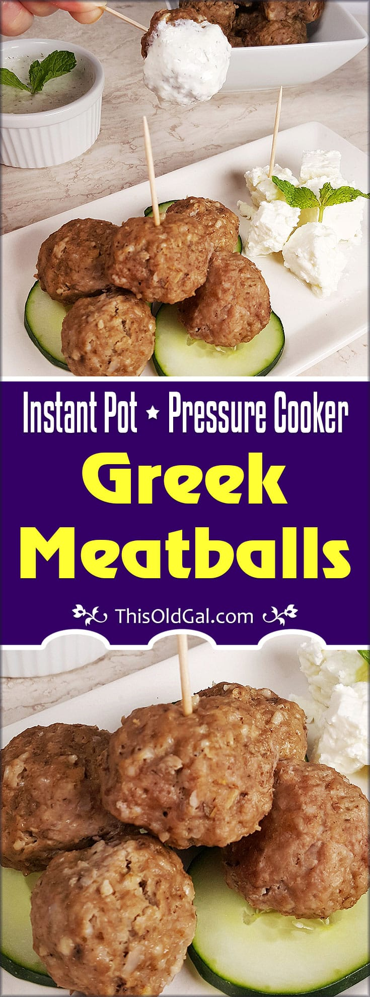 Pressure Cooker Greek Meatballs {Keftedes}