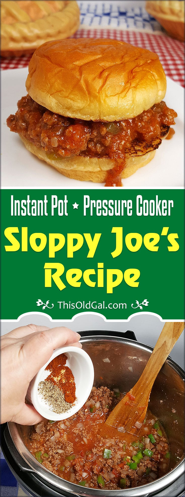 Pressure Cooker Sloppy Joes {Instant Pot Sloppy Joe's}