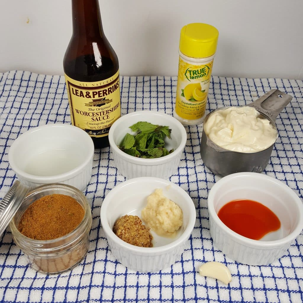 Cast of Ingredients for New Orleans Rémoulade Sauce