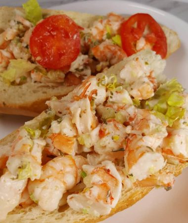 Pressure Cooker Shrimp Po Boy Roll