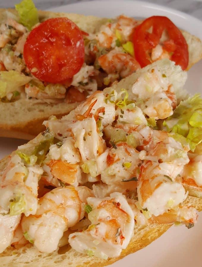 Pressure Cooker Shrimp Po Boy Roll