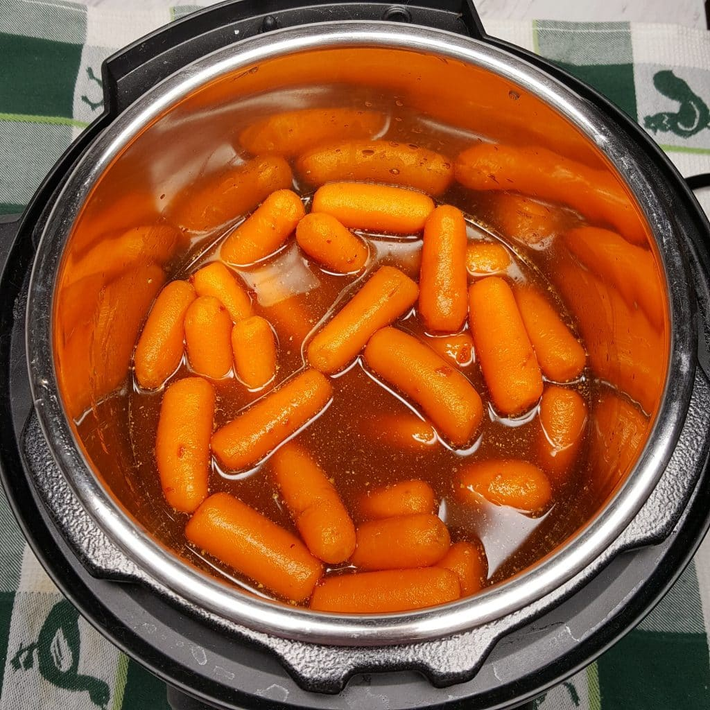 Baby Carrots bathing in Marinade