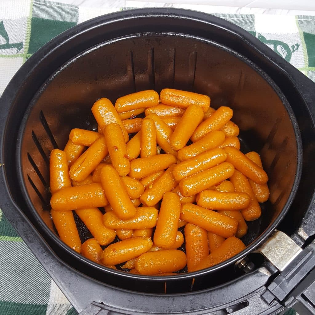 Place Carrot Tail Weenies in Air Fryer