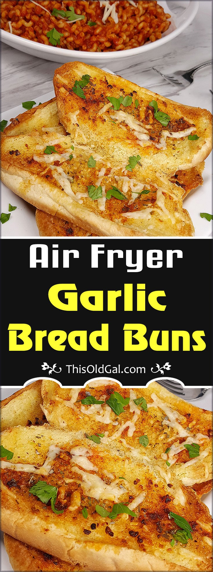 Air Fryer Italian Garlic Bread Buns