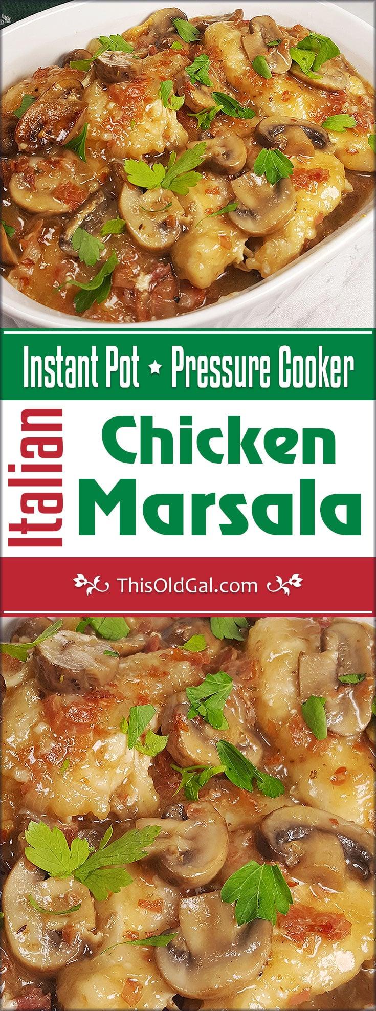 Instant Pot Pressure Cooker Italian Chicken Marsala