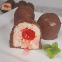 Instant Pot Cherry Cordial Cheesecake Bites