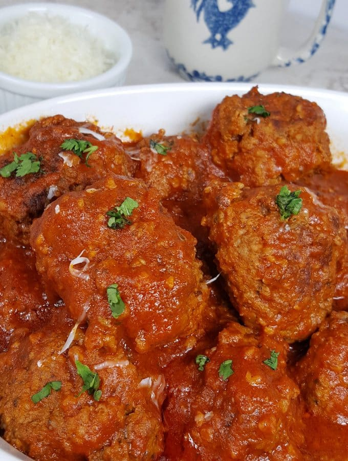 Instant Pot Pressure Cooker Italian Meatballs in Red Wine Sauce