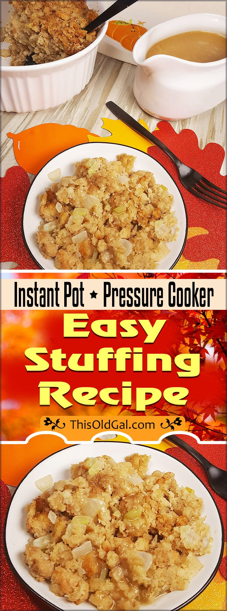 Instant Pot Pressure Cooker Stuffing Recipe