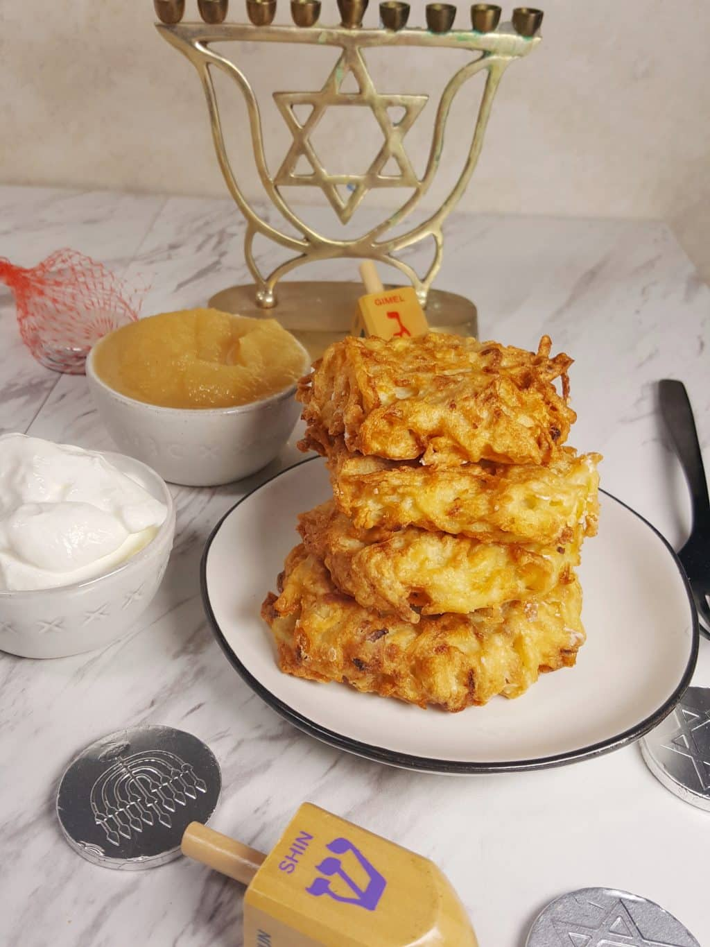 Air Fryer Chanukkah Latkes {Jewish Potato Pancakes}