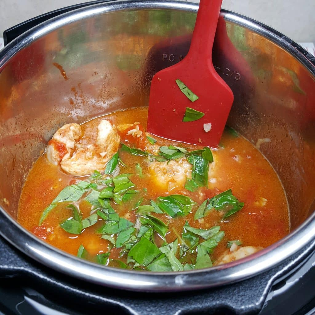 Stir in the Fresh Basil