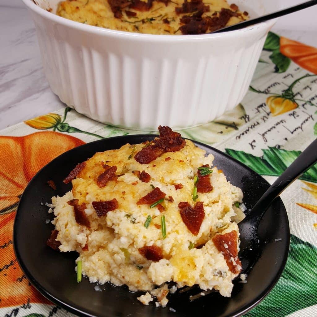 Instant Pot Pressure Cooker Cauliflower Soufflé