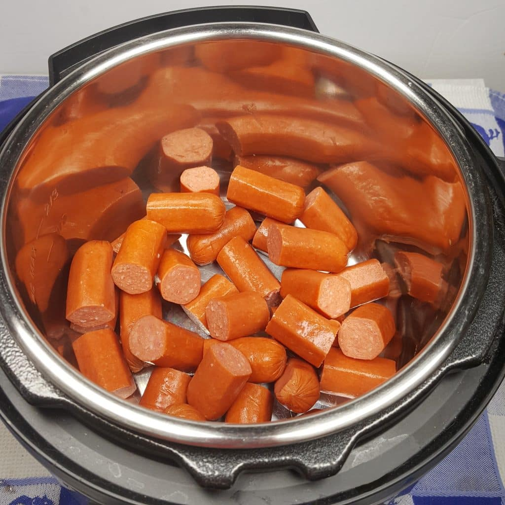 Place Hot Dogs in Pressure Cooker