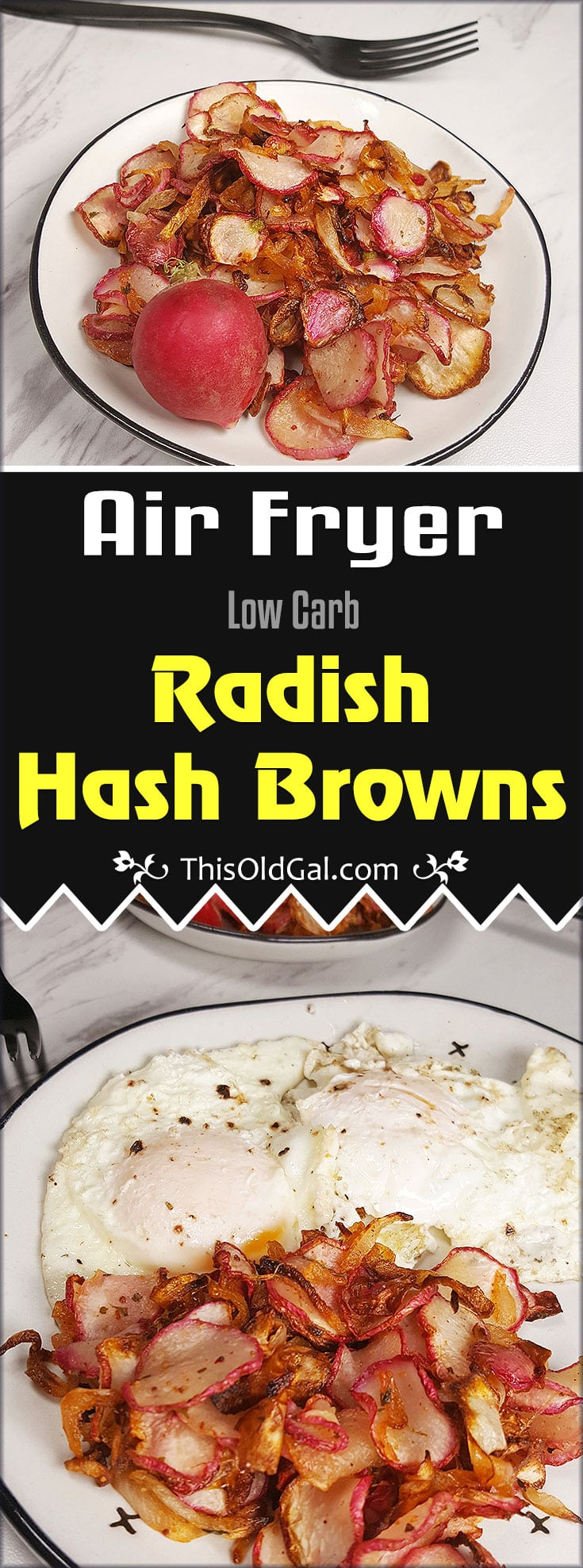 Air Fryer Low Carb Radish Home Fries
