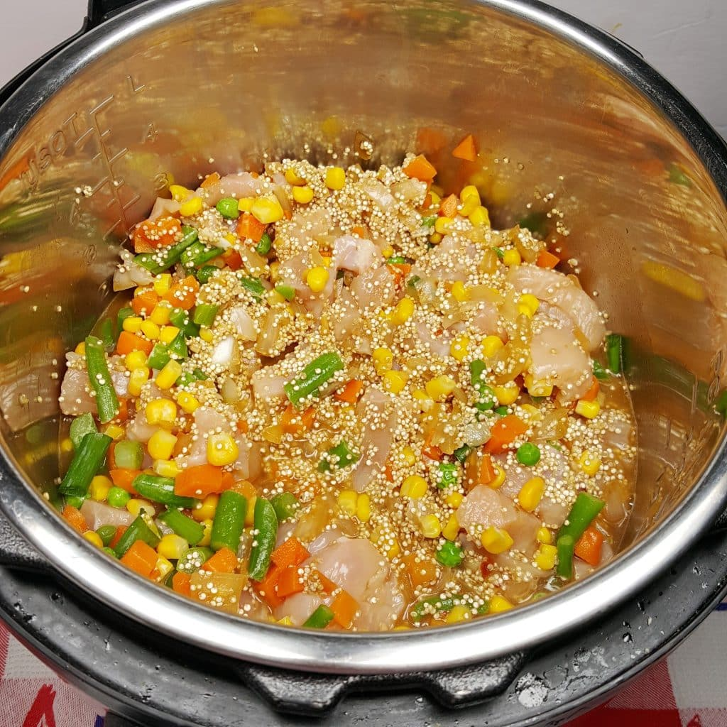 "Instant Pot Chicken Fried Quinoa ""Rice"""